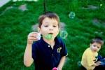 Bilde av Barn såpebobler